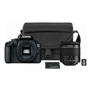 Canon 4000d + 18-55 + torbica + kartica